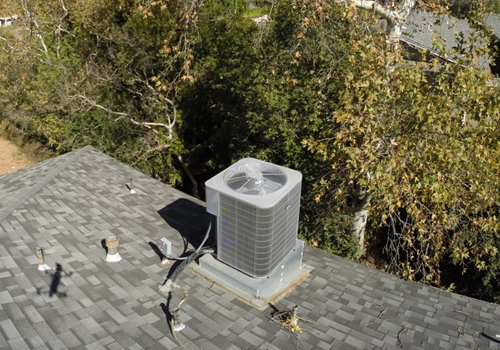 Rooftop System<br>3 Story Condenser Install