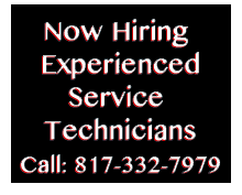 Now Hiring Experienced Service Technicians