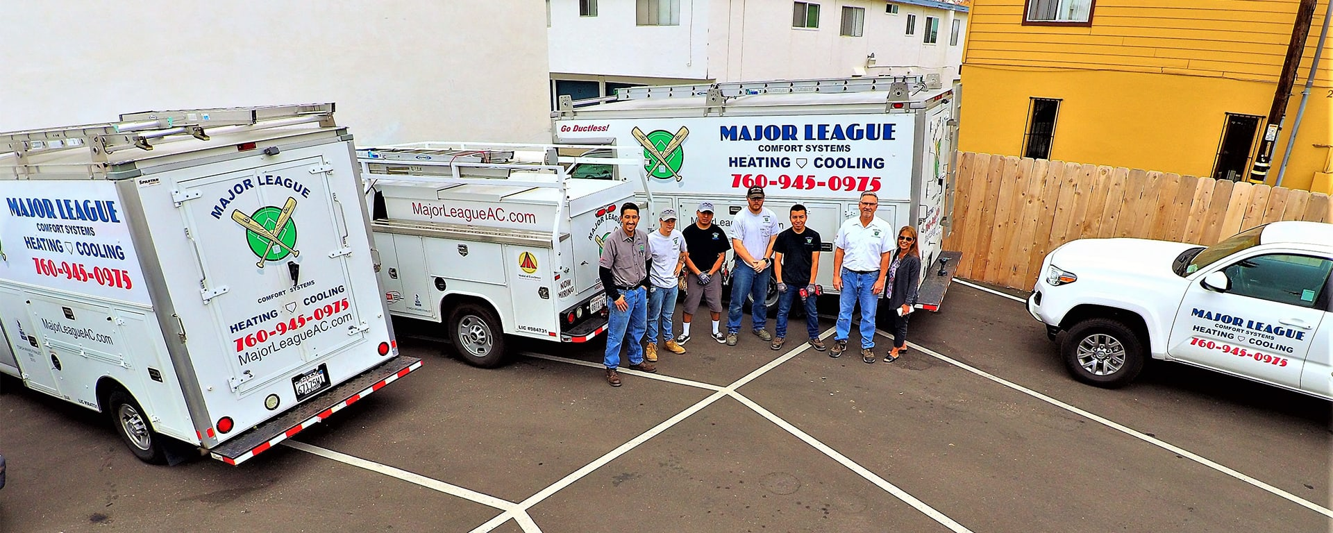 Major League team and trucks