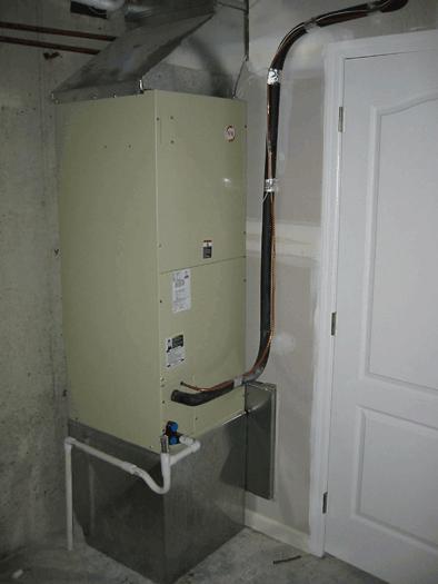 Typical Basement Air Handler Installation