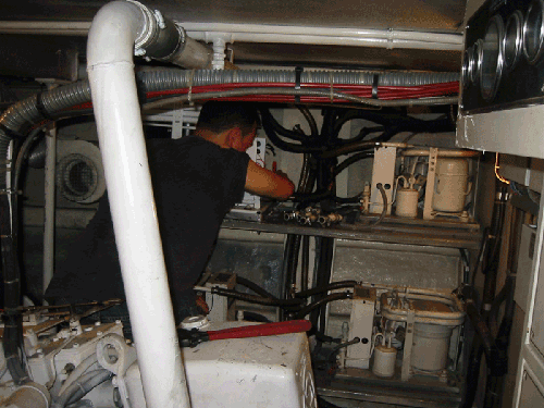 4 Ton Compressor Replacement  On 100' Yacht