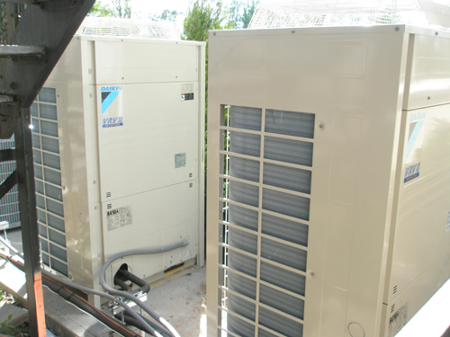 Saddle River Day School New Daikin VRV System Outdoor Units