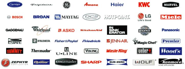 Appliances brands we service