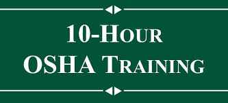 OSHA 10 hour training certificate