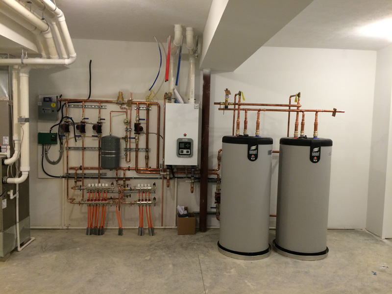 <p>High Efficiency Gas Boiler with Indirect Water Heaters</p>