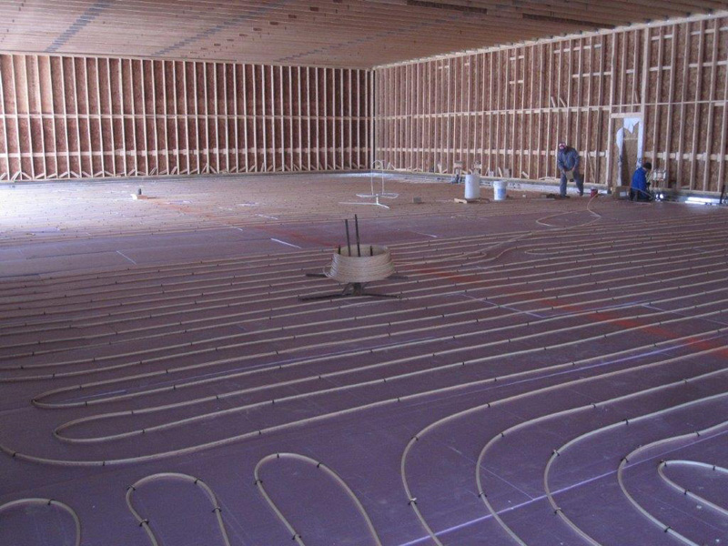 <p>Radiant Floor Heat Tubing</p>