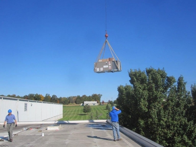 <p>Rooftop Commercial HVAC Installation</p>