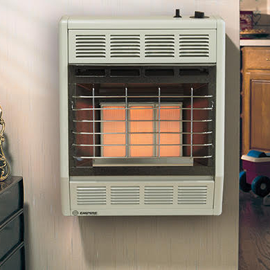 Infrared vent-free room heater