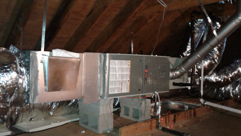 Horizontal Furnace Installation