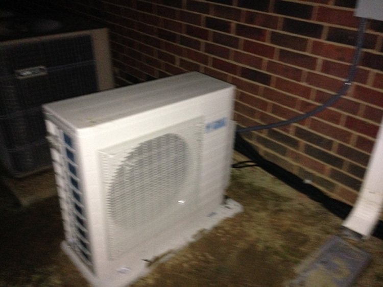 Daiken Ductless AC Outside Installation