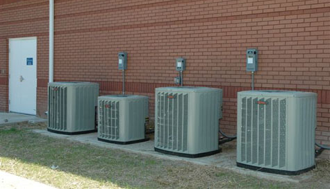 newly installed hvac equipment