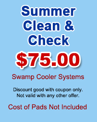 Swamp Coolers Summer Clean & Check