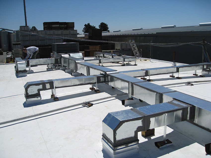 Custom Commercial Rooftop Ductwork