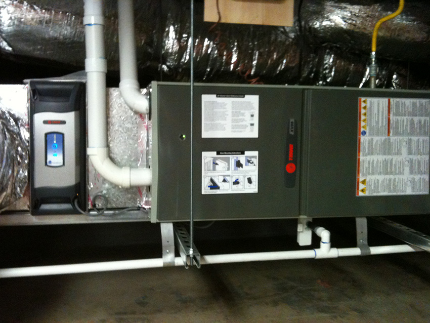 Trane Horizontal Furnace Installation in Sebastopol