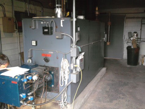 Commercial Boiler Installed