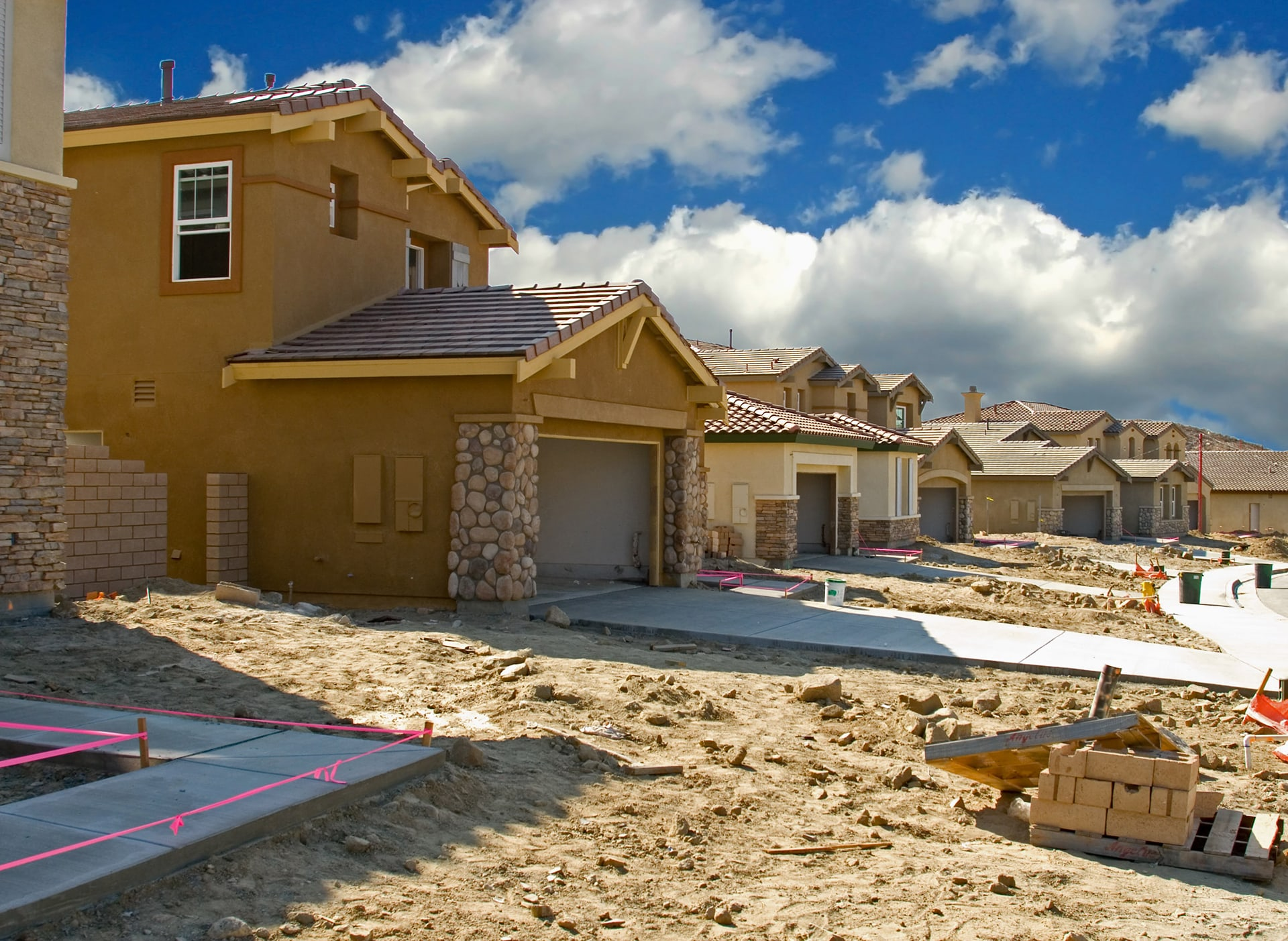 Image of a community constructing a new residential subdivision