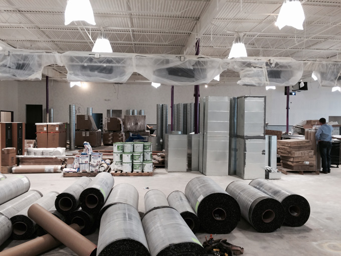 Planet Fitness HVAC Installation In Progress 2