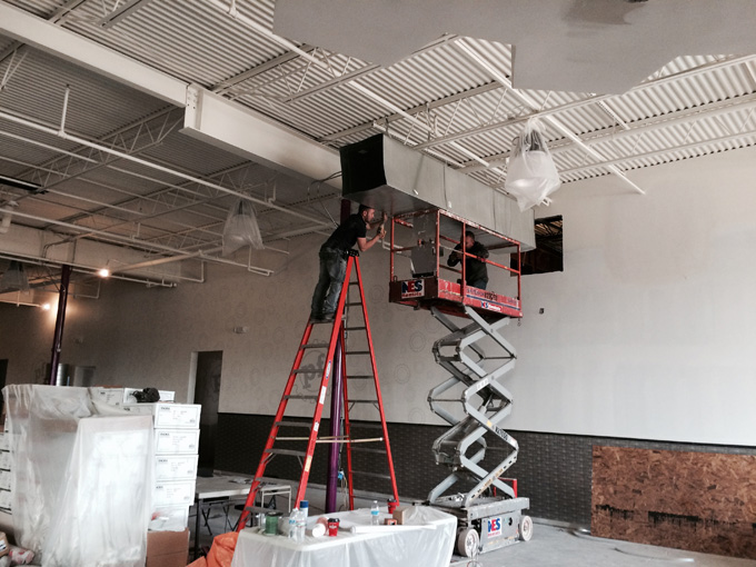 Planet Fitness HVAC Installation In Progress