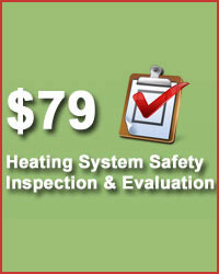 Heating system safety inspection