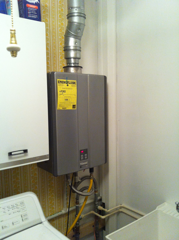 After - New Rinnai Tankless Water Heater