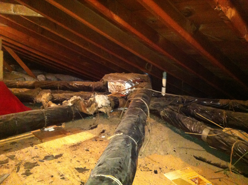 Before - Old Ductwork