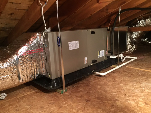 Carrier Attic Furnace Installation
