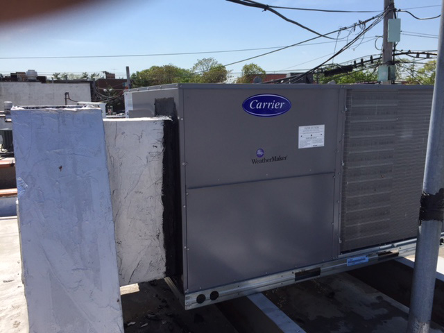 Carrier Commercial Packaged Unit Installation
