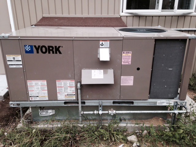 York Packaged Unit Installation