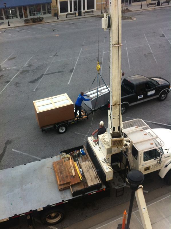 Commercial Rooftop Packaged Unit Installation