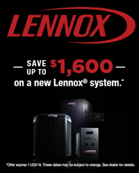 2018 Lennox Fall Promotion
