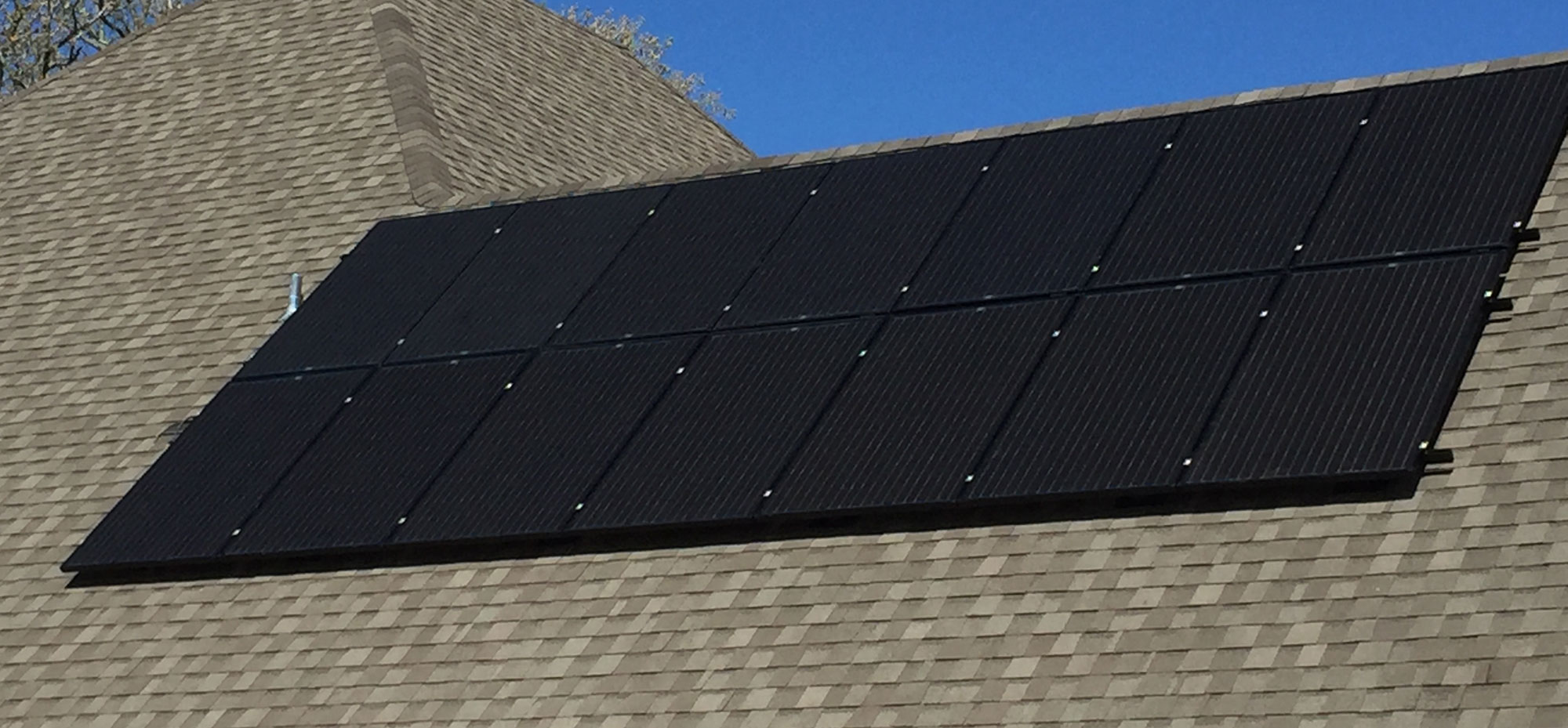Solar panels installed with a Dave Lennox Signature Series XC25 system