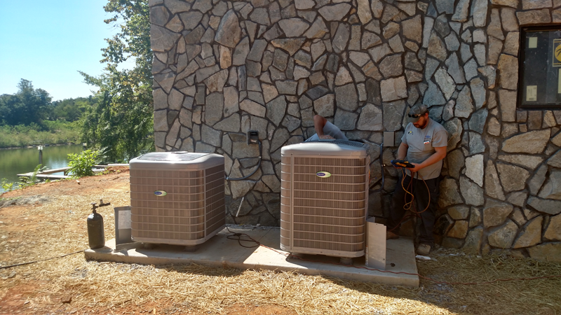 <p><strong>Residential Heat Pump Installation<br />Johnson City, TN</strong></p>