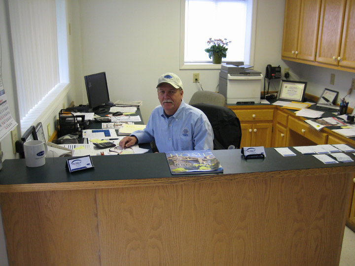 Blue Ridge Heating and Air Conditioning owner working at his desk
