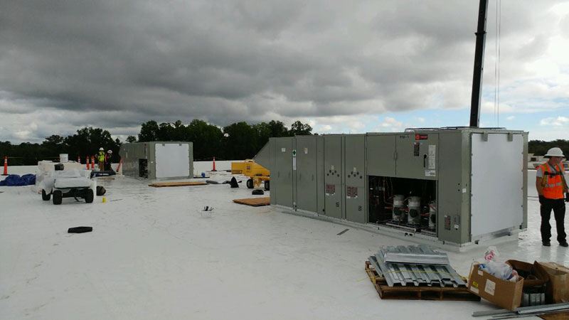 Mayfaire Expansion Multiple Rooftop HVAC Units