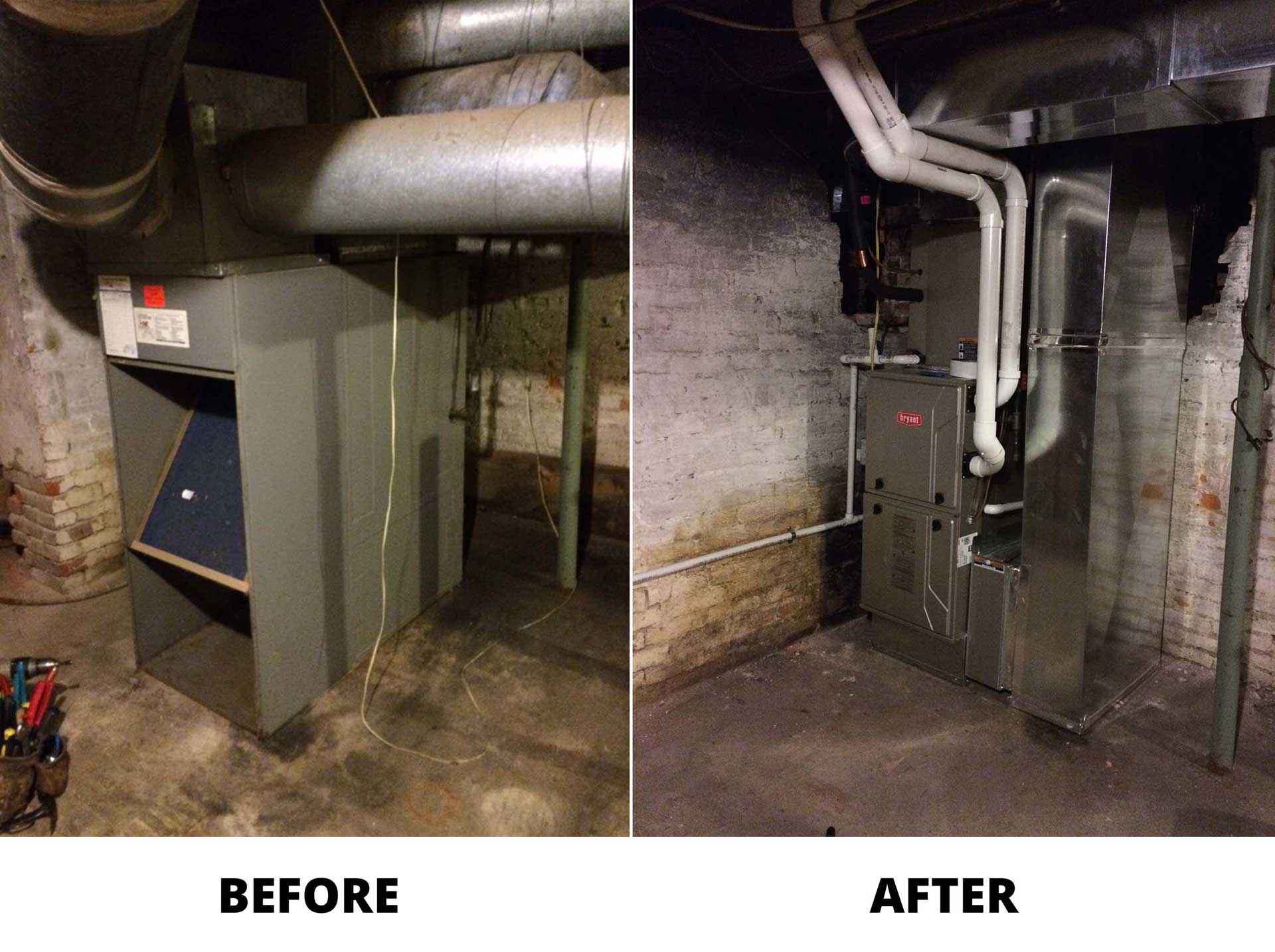 Evolution Gas Furnace Installation