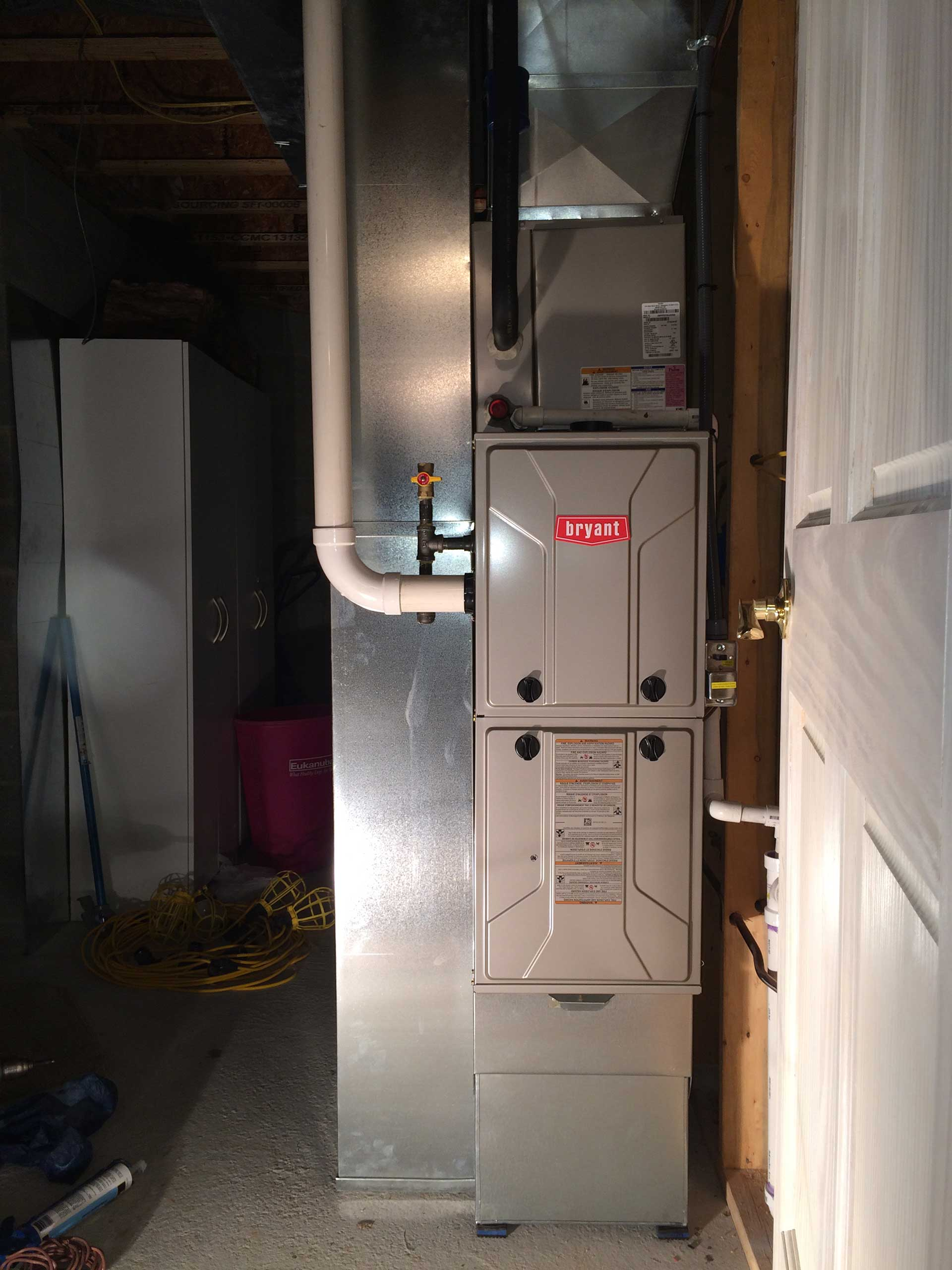 New Construction Gas Furnace 95 and Upgraded 13 SEER AC - Indoor Unit