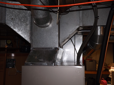 Ductwork on Furance Installation