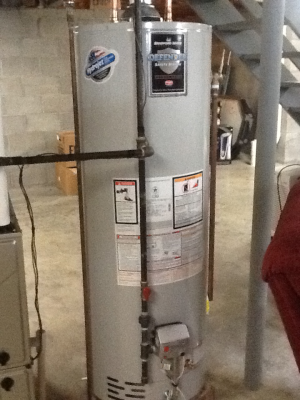 New Hot Water Tank Installation