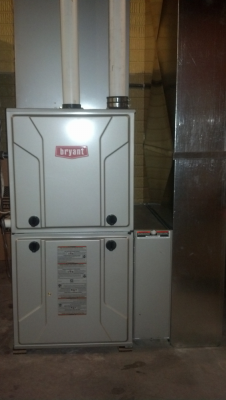 Bryant Gas Furnace with Bryant Air Cleaner