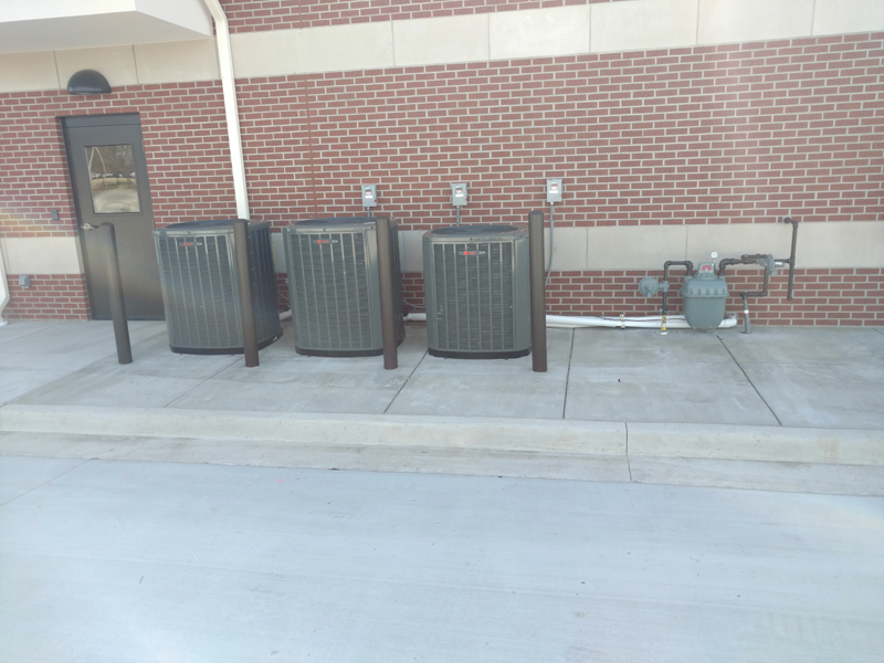 Outside AC Units Commercial Installation - FCB
