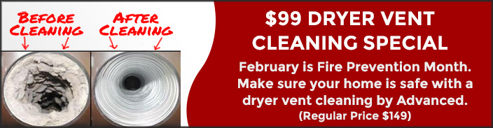 Advanced Heating Dryer Vent Cleaning Promotion