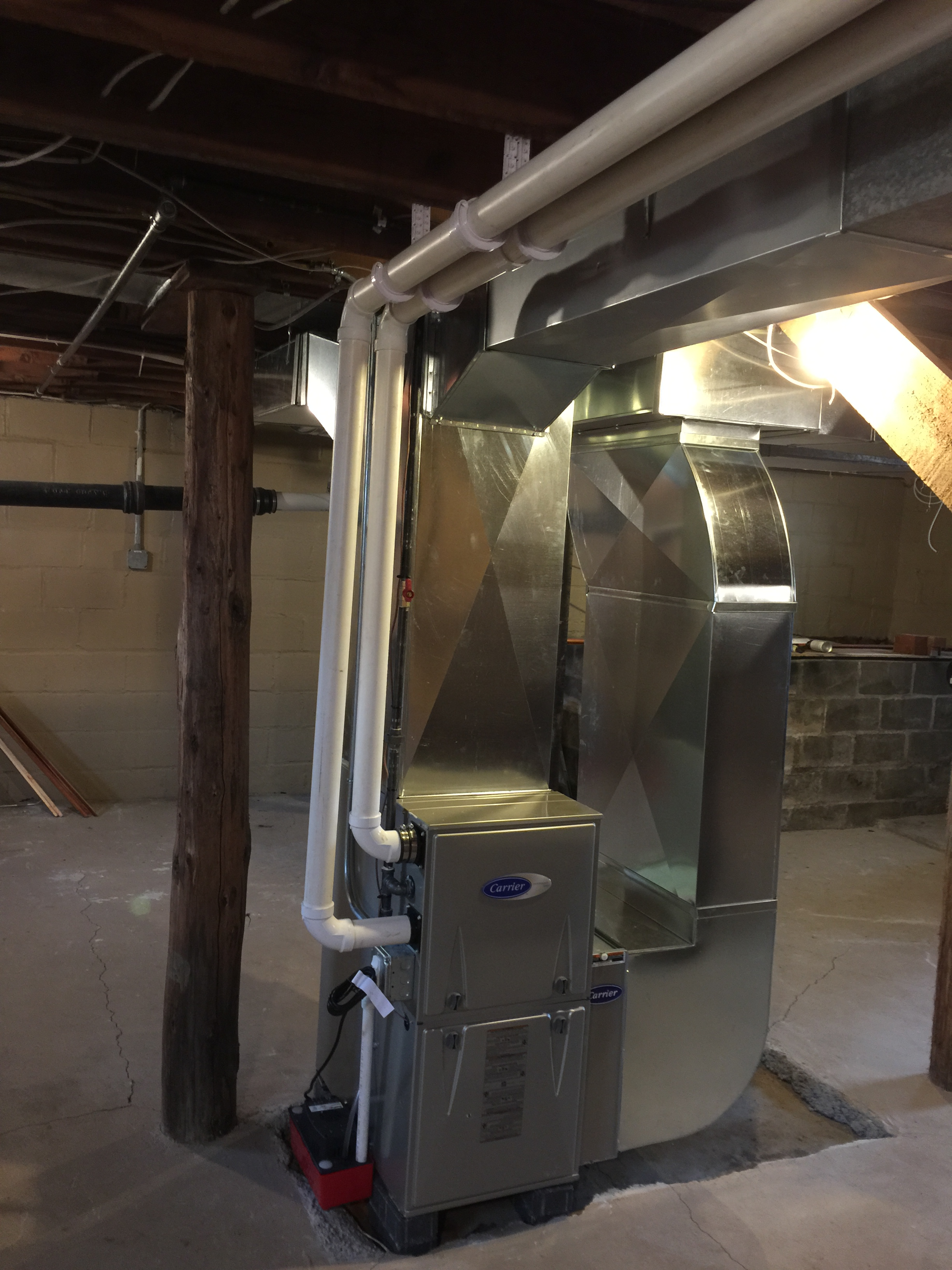 Carrier Furnace Infinity Two Stage 96% Furnace Installation