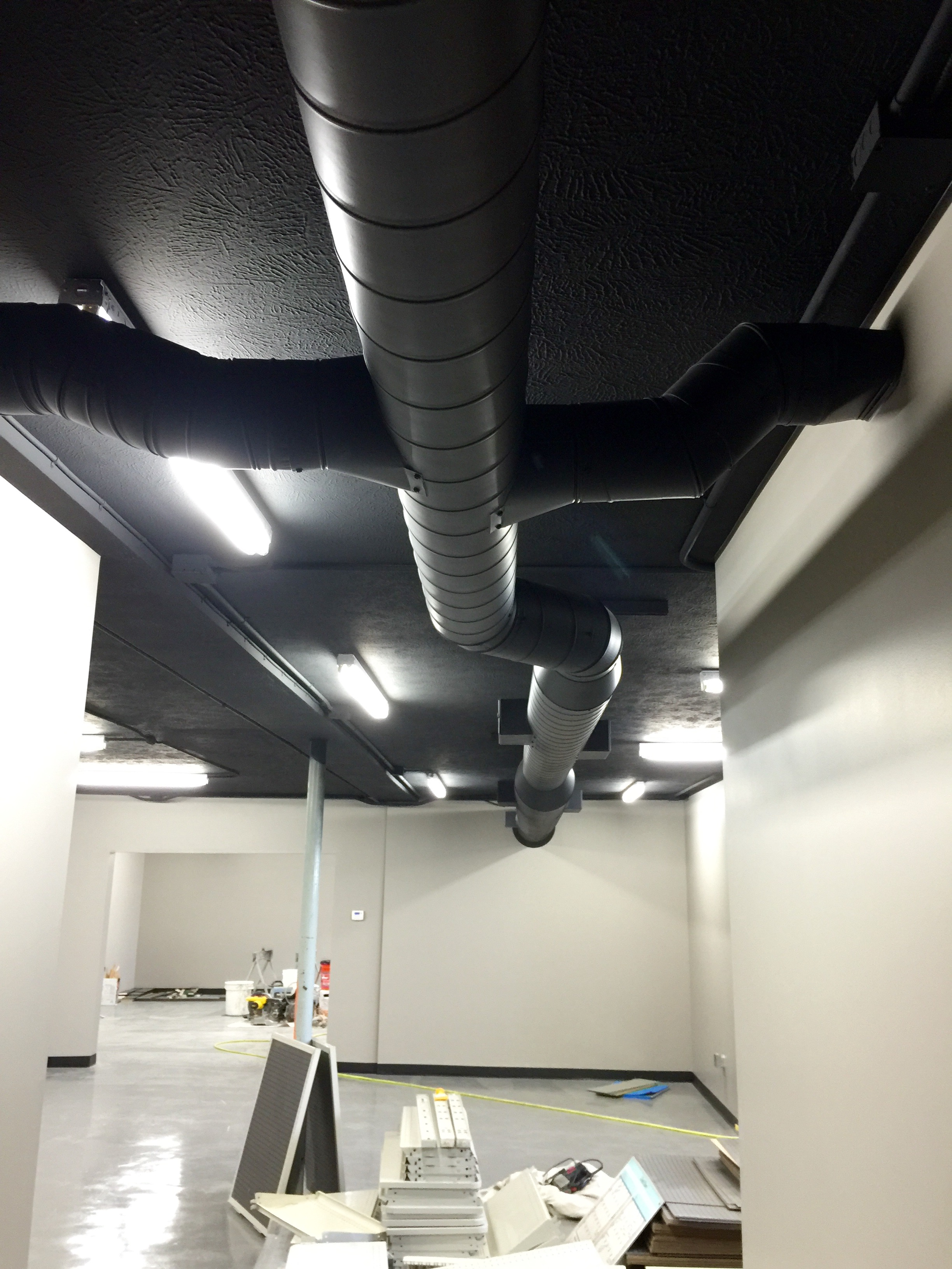 Custom Commercial Exposed Ductwork