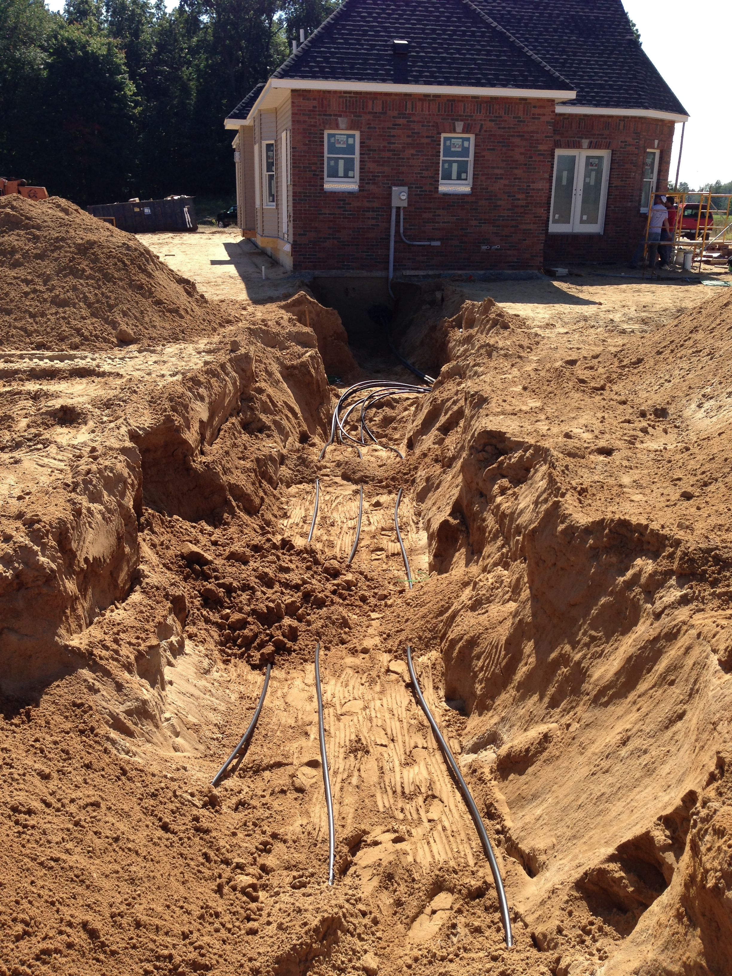 Geothermal Installation Trenching