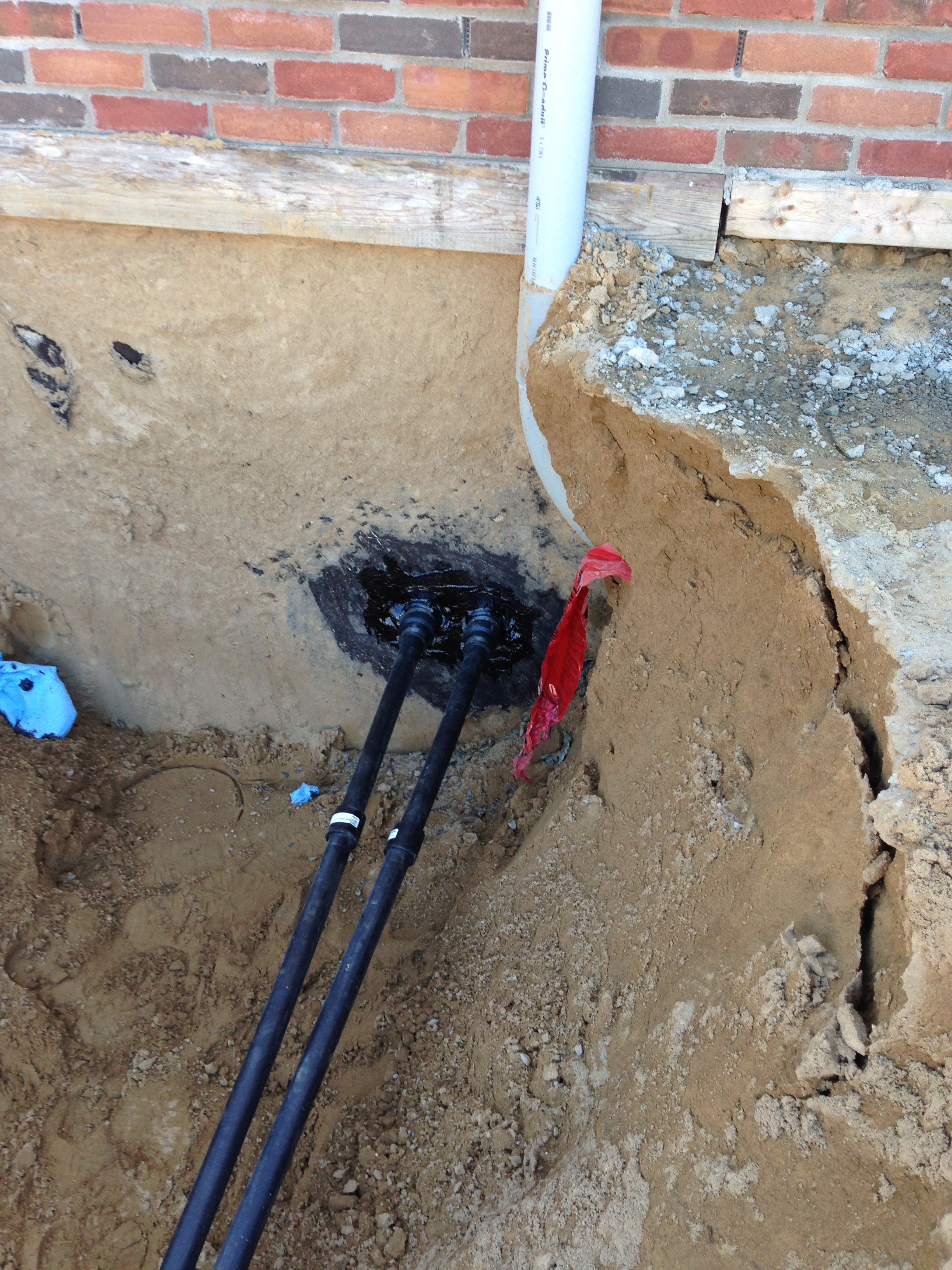 Geothermal Installation Home Loop Connection
