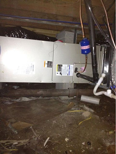 Carrier Air-Handler Installation