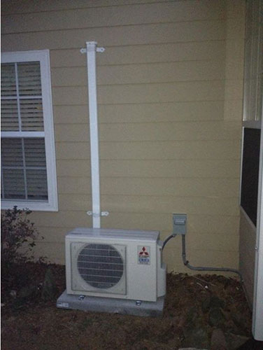 Mitsubishi Ductless Mini-Split Installation