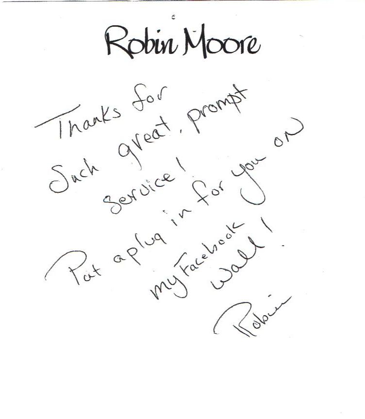 Robin Moore review
