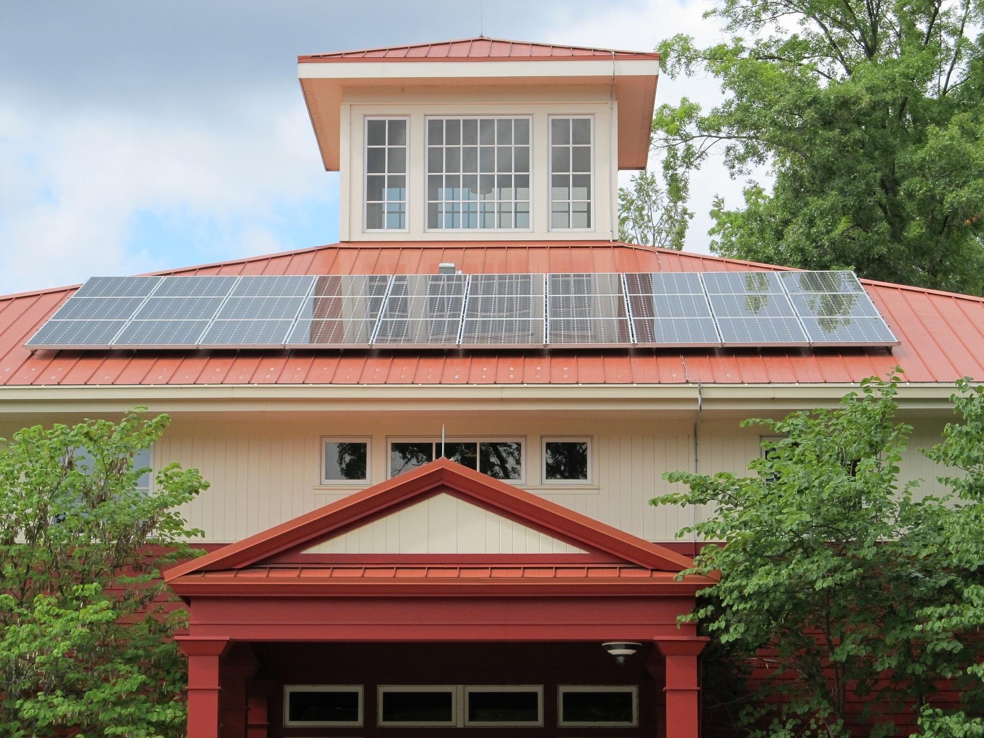 Solar power system installation for churches