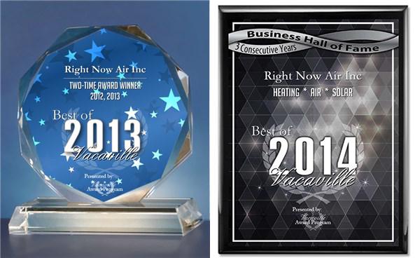 VACAVILLE AWARD- 2012, 2013, 2014